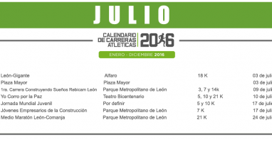 03 JULIO – CALENDARIO CARRERAS ATLÉTICAS 2016
