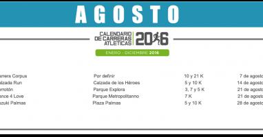 04 AGOSTO – CALENDARIO CARRERAS ATLÉTICAS 2016