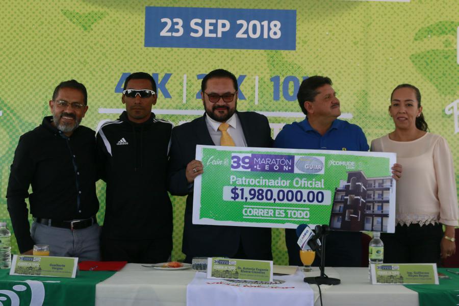 Incrementa Maratón León Guiar 2018 premiación para edición 39