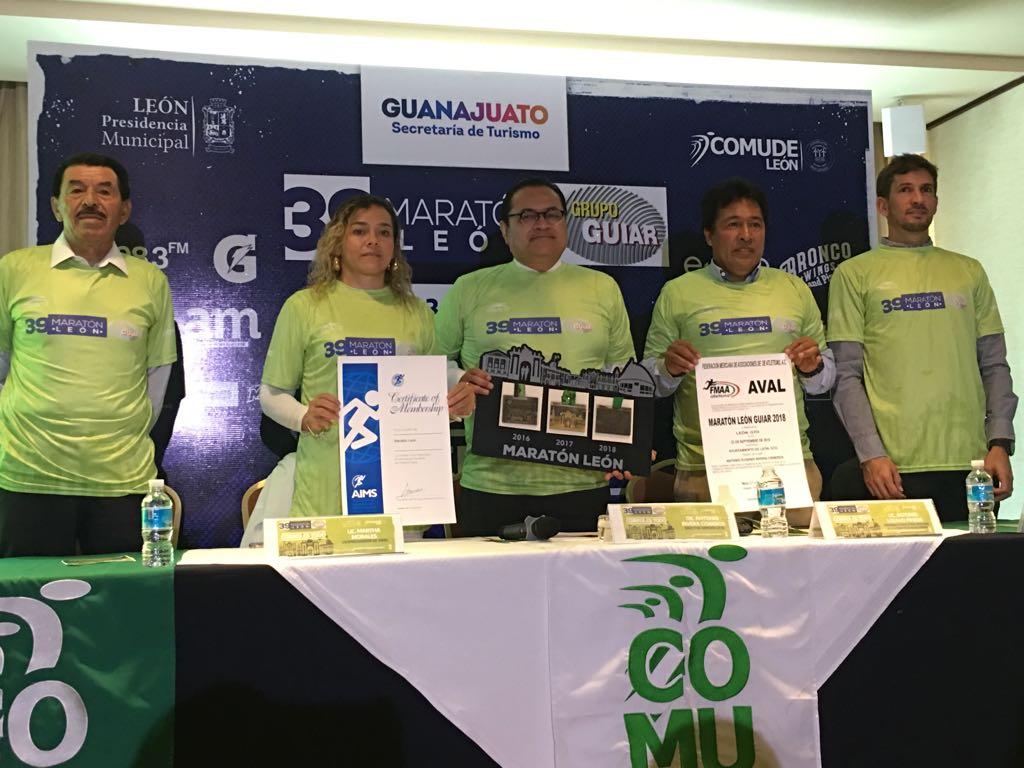 Ratifican certificación, aval y apoyo a Maratón León Guiar 2018