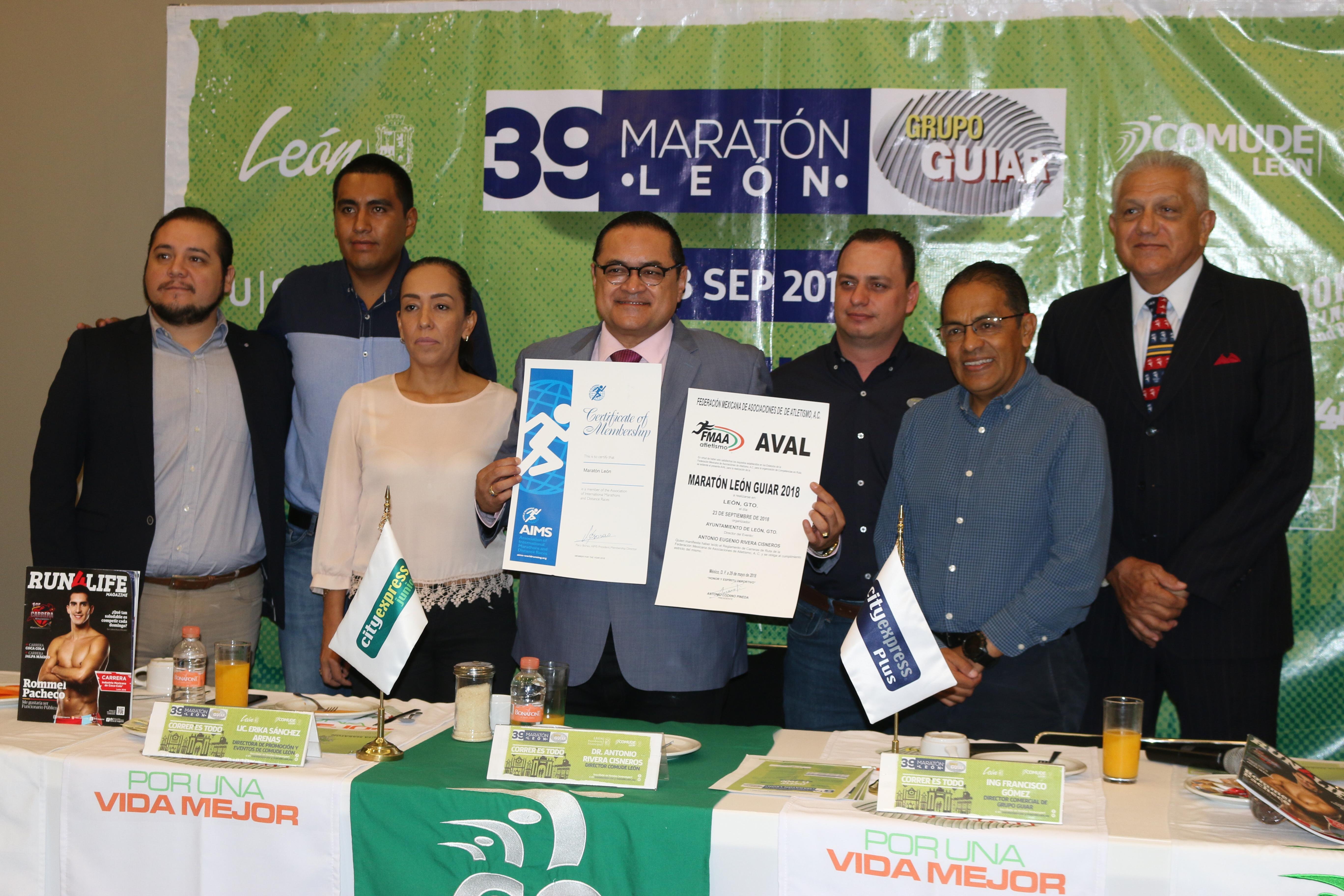 Presenta Comude la nueva ruta del Maratón León Guiar 2018 con salida y meta en el Fórum Cultural Guanajuato